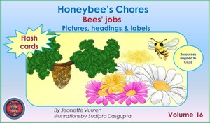 FLASH CARDS (PDF) HONEYBEE'S CHORES VOLUME 16 - PICTURES, HEADINGS, LABELS