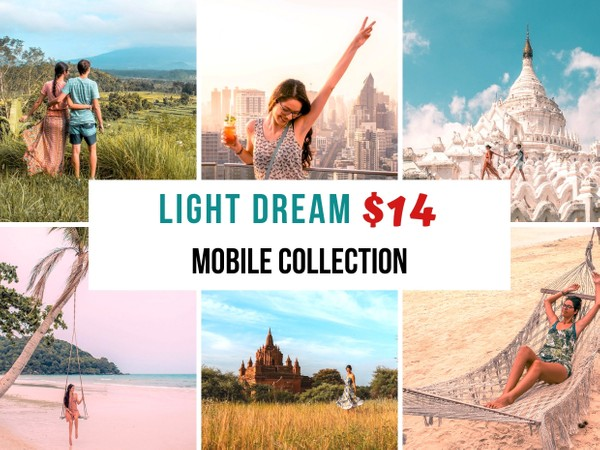 Light Dream Collection - 14 PHONE Lightroom presets