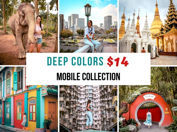Deep Colors Collection - 8 PHONE Lightroom presets