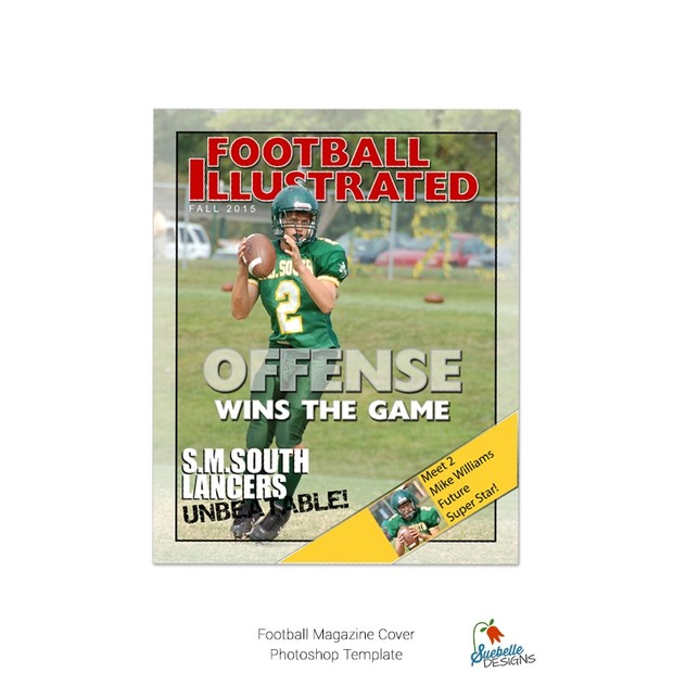 Football Magazine Cover Template 001jpegw620