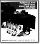 Briggs and Stratton Model 95700 and 96700 2 Cycle Engine Service and Repair Instructions