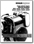 Kohler Single Cylinder Engine Service Manual K91 K141 K161 K181 K241 K301 K321 K341