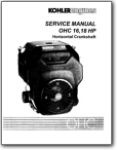 Kohler OHC 16 18 HP Horizontal Crankshaft Service Manual
