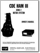 CDE Ham III Series 2 Antenna Rotator System Instruction Manual