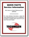 Tecumseh Mini Quick Reference Book