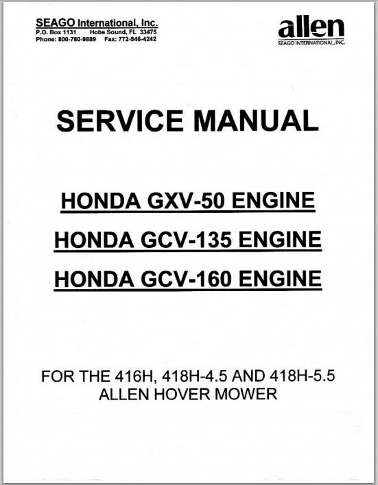 honda gxv 50 gcv 135 gcv 160 engine repair service man rh sellfy com honda gcv 160 workshop manual honda gxv160 service manual