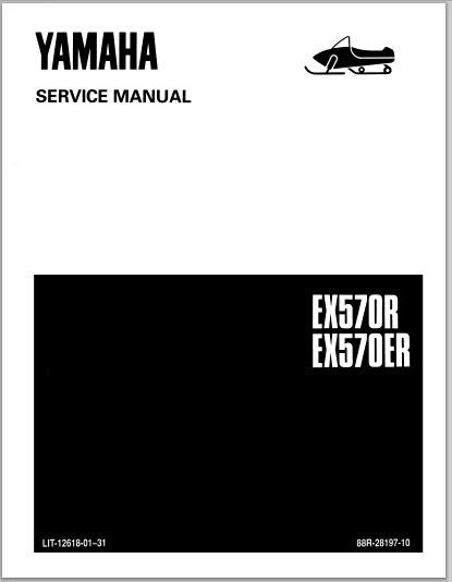 1990-1991 Yamaha EX570R EX570ER Snowmoblile Workshop Service Repair Manual Download