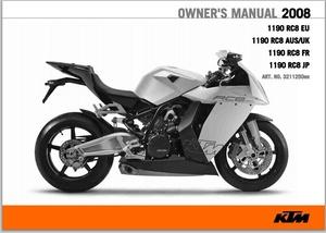 2008 KTM 1190 RC8 Service Repair Manual pdf download