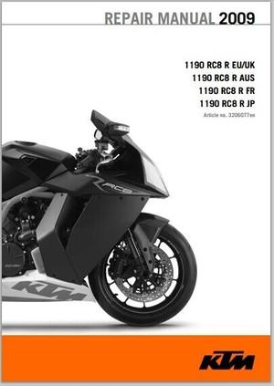 KTM 1190 RC8 R Workshop Service Repair Manual 2009 pdf Download