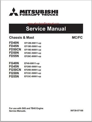 Mitsubishi FD40N, FD45N, FD50CN, FD50N, FD55N, FG40G,FG45N, FG50CN, FG50N, FG55N Service manual