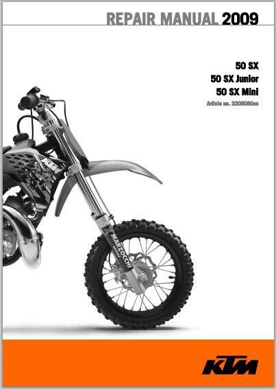 2009 ktm 50 sx 50 sx junior 50 sx mini workshop serv rh sellfy com KTM 50 SX Clutch KTM 50 Sxs Parts