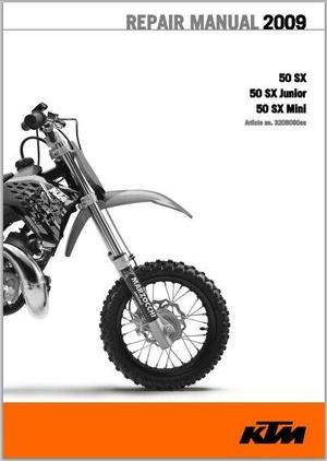 2009 KTM 50 SX, 50 SX Junior, 50 SX Mini Workshop Service Repair Manual pdf Download