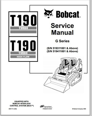 Bobcat T190 Turbo T190 Turbo High Flow Compact Track Loader Service Repair Manual