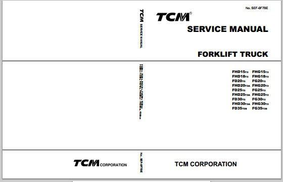 tcm forklift truck fhd15t3 fg35t3s workshop service re TCM Fork Lift Parts Manual tcm forklift truck fhd15t3 fg35t3s workshop service repair manual download