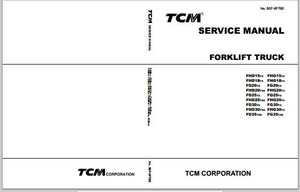 TCM Forklift Truck FHD15T3-FG35T3S Workshop Service Repair Manual Download