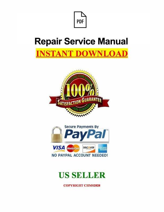 Bobcat S100 Skid Steel Loader Service Repair Manual Download S/N A2G711001 & Above