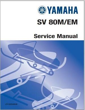 1988-1990 Yamaha SV80M SV80EM Snowmoblile Workshop Service Repair Manual Download