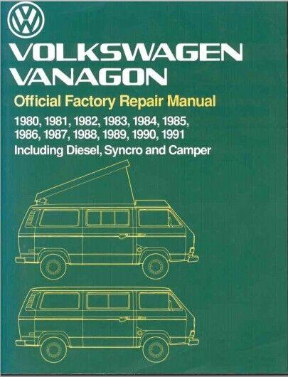 1980-1991 VW Volkswagen Vanagon T3 Factory Repair Manual Download