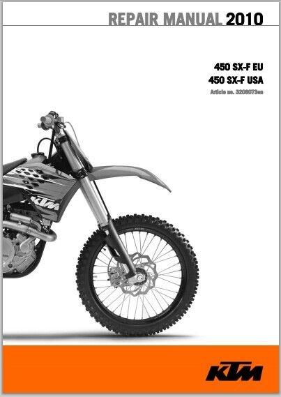 2010 KTM 450 SX-F Workshop Service Repair Manual Download