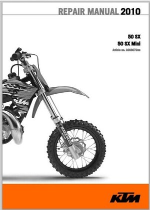 2010 KTM 50 SX, 50 SX Mini Workshop Service Repair Manual pdf Download