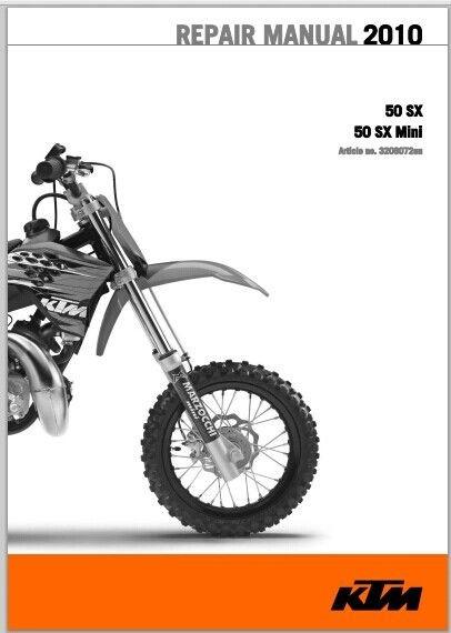 2010 KTM 50 SX, 50 SX Mini Workshop Service Repair Manual pdf Download