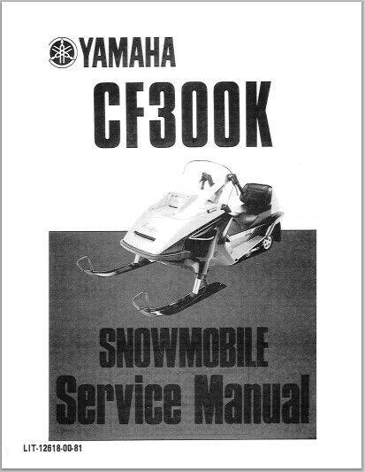 1987-1990 Yamaha CF 300 K Snowmoblile Workshop Service Repair Manual Download