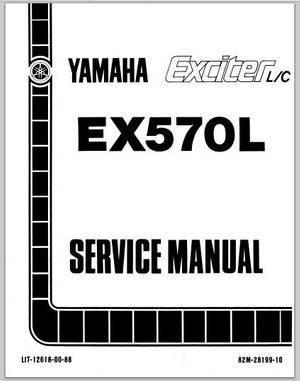 1987 Yamaha EX570L Exciter L/C Snowmoblile Workshop Service Repair Manual Download