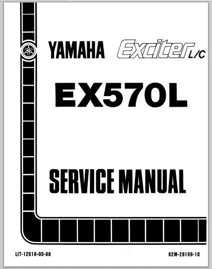 1987 Yamaha EX570L Exciter L/C Snowmoblile Workshop Service Repair Manual Download