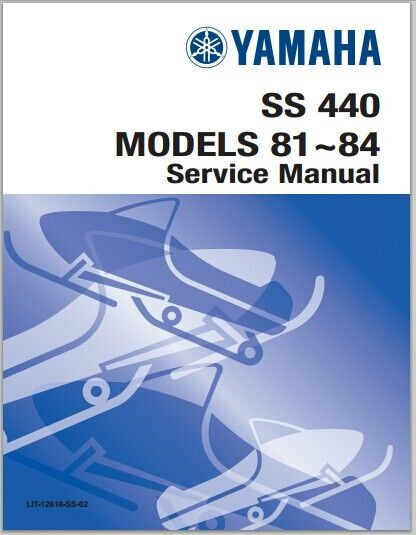 1981-1984 Yamaha SS440, SS440H, SS440D Snowmoblile Workshop Service Repair Manual Download