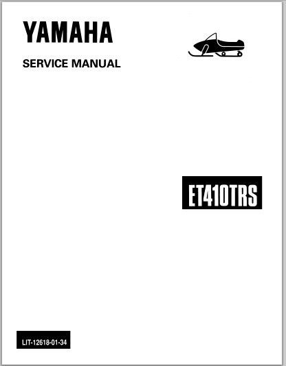 1991-1992 Yamaha ET410TR ET410TRS Snowmoblile Workshop Service Repair Manual Download