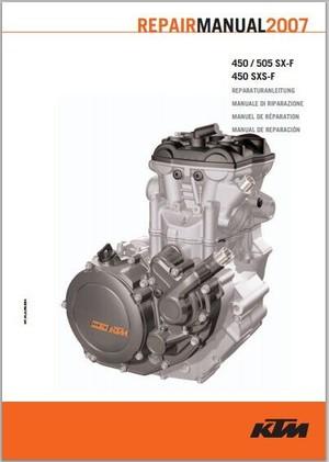 2007 KTM 450 / 505 SX-F, 450 SXS-F Workshop Service Repair Manual pdf  Download