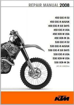 2008 KTM 450 530 EXC-R, XCR-W Workshop Service Repair Manual pdf DOWNLOA