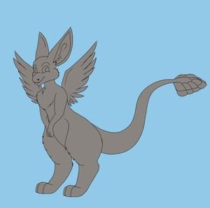 angel dragon lineart