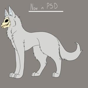 PSD file for skull creature P.W.Y.W.