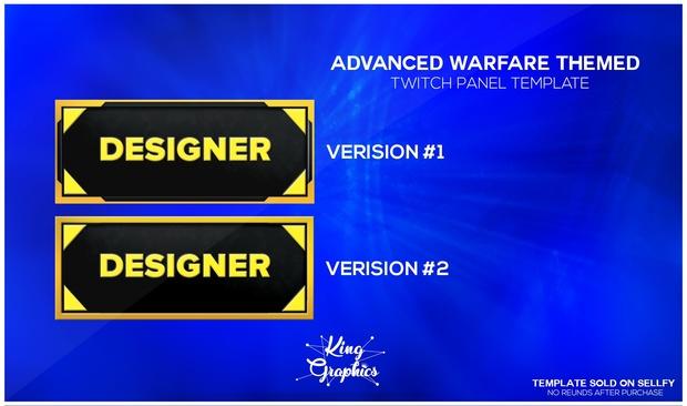 Twitch Panels v2 (Call of Duty Advanced Warfare)