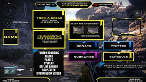 Destiny Twitch Package  ( PSD Template v4 )
