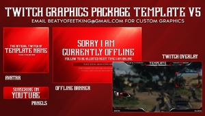 Clean Twitch Graphics Package Template v5 ( Photoshop CS6)