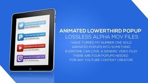 Animated Social Media Popup Alpha files