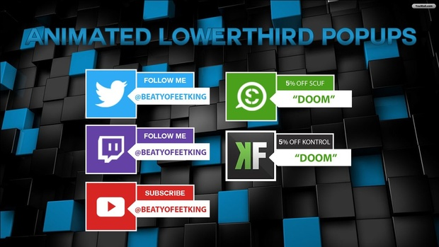 Animated Lowerthird Popup Photoshop After Effects Template YoutubeTwitterTwitch