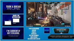 Advanced Warfare Twitch Package  ( PSD Template v3 )