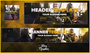 Advanced Warfare Full Rebrand PSD Template ( Avi,Youtube,Twitter )