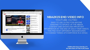 NBA2k15 Youtube End Video Information (Outro) PSD