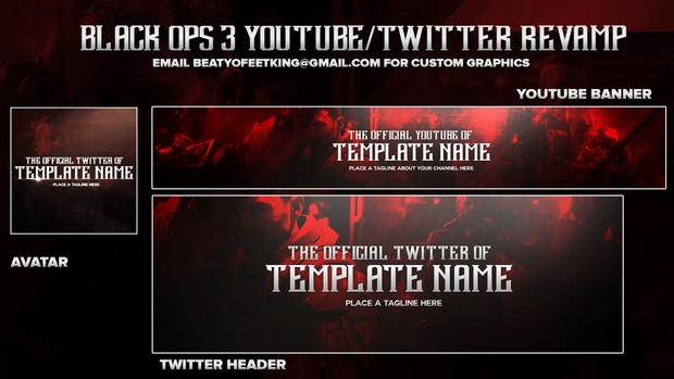 BLACK OPS 3 Youtube/Twitter  Photoshop Template