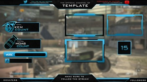 Twitch/Youtube Overlay PSD v2