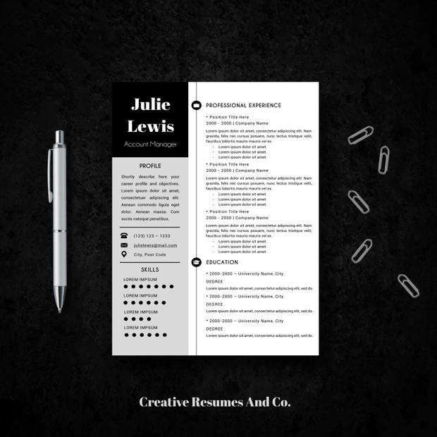 Professional Resume Template Word Cover Letter And References Templates