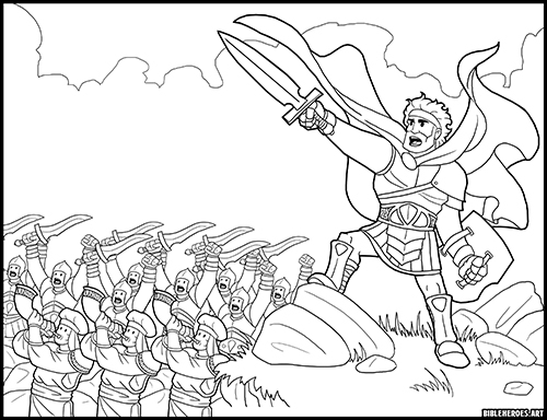 - The Heroes Of The Bible Coloring Pages: Joshua - BibleHeroes.Art Store