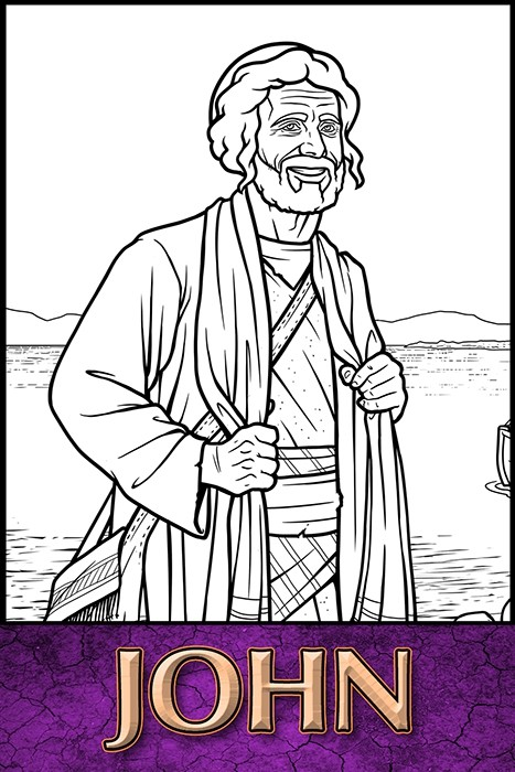 The Apostles of Jesus Christ: John Coloring Page - The Heroes of the ...