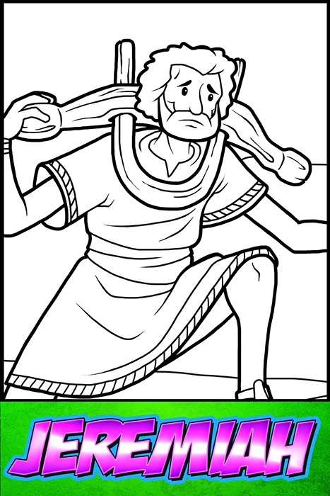 The Heroes Of The Bible Coloring Pages: Jeremiah - BibleHeroes.Art Store