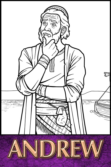 The Apostles of Jesus Christ: Andrew Coloring Page