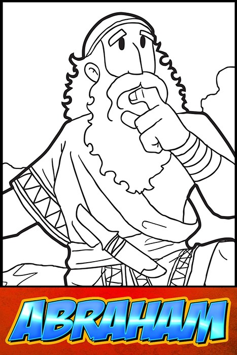 The Heroes of the Bible Coloring Pages: Abraham
